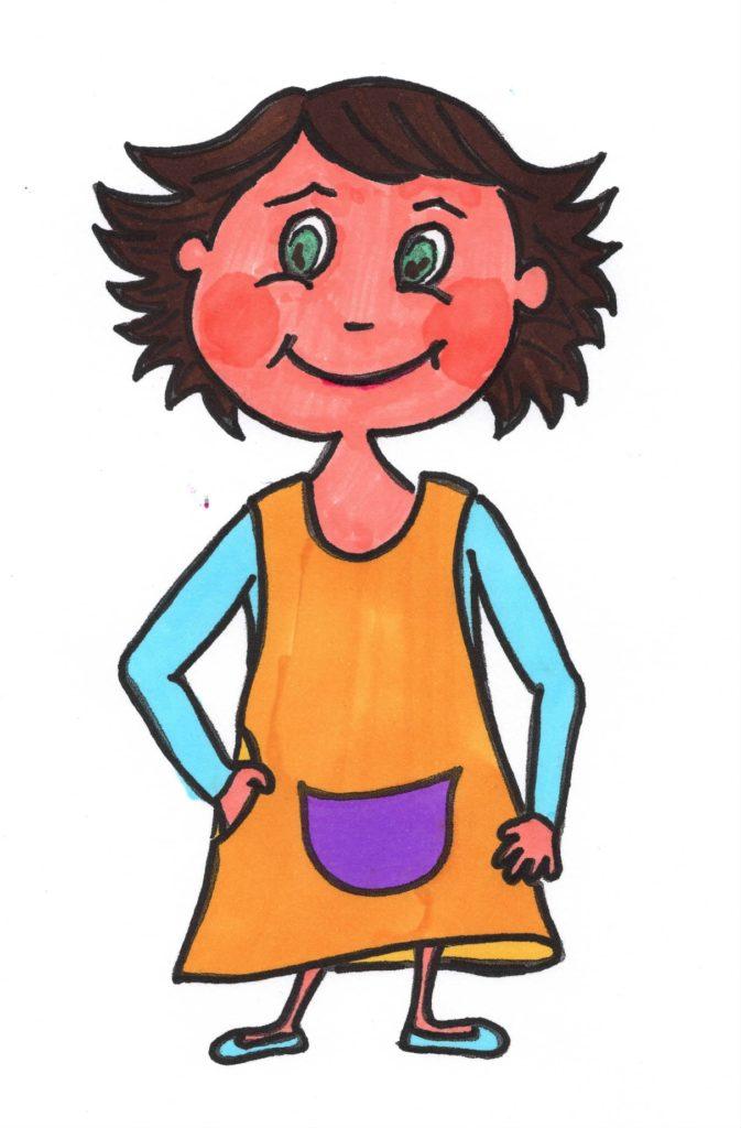 Dessin autoportrait Françoise